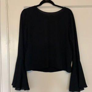 Zara Bell Sleeve Blouse